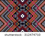 geometric ethnic pattern... | Shutterstock .eps vector #312474710