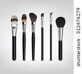 make up brushes vector.... | Shutterstock .eps vector #312476279