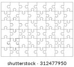 white puzzle  vector... | Shutterstock .eps vector #312477950
