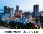 cement plant and power sation... | Shutterstock . vector #312479138