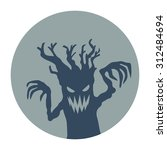 creepy tree   flat style icon... | Shutterstock .eps vector #312484694