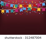 party flags | Shutterstock .eps vector #312487004