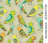 colorful decorative birds... | Shutterstock .eps vector #312491750