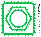 vector set of green boders.... | Shutterstock .eps vector #312507584