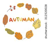 autumn wreath from leaves  an...   Shutterstock .eps vector #312520028