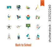 school and education icon set.... | Shutterstock .eps vector #312522260