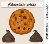 chocolate chips | Shutterstock .eps vector #312523820