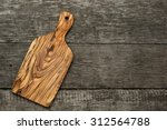 Wood Chopping Board On Wooden...