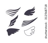 vector set of bird wings...