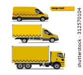 cargo taxi.vector illustration. | Shutterstock .eps vector #312570104