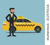 taxi driver | Shutterstock .eps vector #312570116