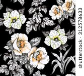 seamless floral pattern on... | Shutterstock . vector #312578633