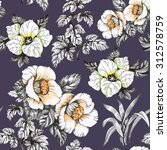 seamless floral pattern on... | Shutterstock . vector #312578759
