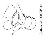 outline illustration of... | Shutterstock .eps vector #312586103