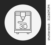 3d printing line icon | Shutterstock .eps vector #312609194