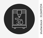 3d printing line icon | Shutterstock .eps vector #312609254