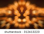 candle light  bokeh pattern.... | Shutterstock . vector #312613223