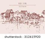 hoi an  vietnam  southeast asia.... | Shutterstock .eps vector #312615920