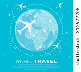 travel world map background in... | Shutterstock .eps vector #312622208