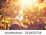 female fitness model training... | Shutterstock . vector #312622718