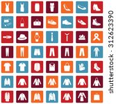 vector set of 49 clothes icons. ...