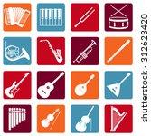 vector set of musical... | Shutterstock .eps vector #312623420