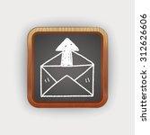 mail doodle | Shutterstock . vector #312626606
