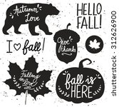 Vector Set Of Autumn Themed...