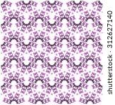 pattern pieces purple flowers | Shutterstock .eps vector #312627140
