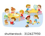 children's creative activity | Shutterstock .eps vector #312627950