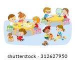 children's creative activity   Shutterstock .eps vector #312627950