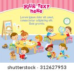 children's activity in the... | Shutterstock .eps vector #312627953