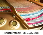 inside of a piano with the