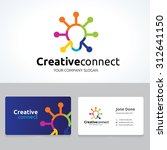 creative connect idea logo.... | Shutterstock .eps vector #312641150