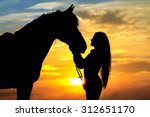 Beautiful Horse With Girl...