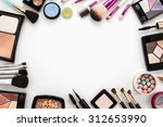 cosmetics set on white...   Shutterstock . vector #312653990