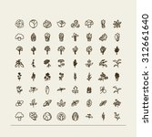set of icons   a leafy... | Shutterstock .eps vector #312661640