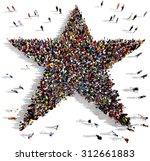 large group of people seen from ... | Shutterstock . vector #312661883