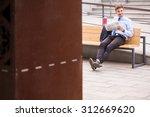 image of male passenger... | Shutterstock . vector #312669620