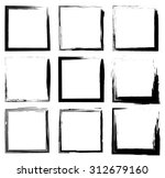 collection of grunge borders | Shutterstock . vector #312679160