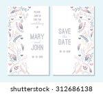 wedding invitation  thank you...   Shutterstock .eps vector #312686138