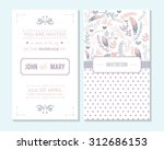 wedding invitation  thank you... | Shutterstock .eps vector #312686153