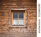 old hut and window with curtain  | Shutterstock . vector #312686180