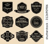 premium logos set. best choice... | Shutterstock .eps vector #312690986