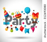 carnival show and party... | Shutterstock .eps vector #312693080