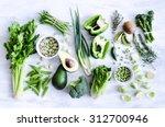 Fresh Green Vegetables Variety...