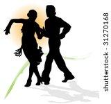 vector silhouette of dancers... | Shutterstock .eps vector #31270168