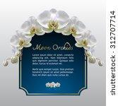 moon orchid flower vector on... | Shutterstock .eps vector #312707714