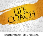 life coach word cloud  business ... | Shutterstock .eps vector #312708326