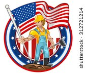 american worker labor day man...